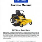 Cub Cadet RZT Zero Turn Rider Lawn Mower Service Manual on a CD