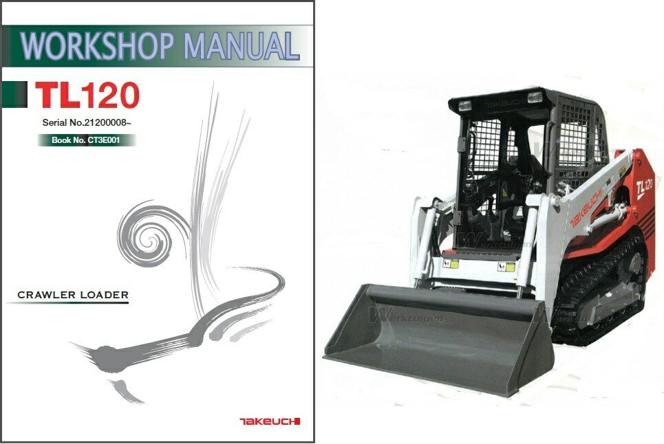 Takeuchi TL120 Skid Steer Loader Service Repair Workshop Manual CD - TL 120