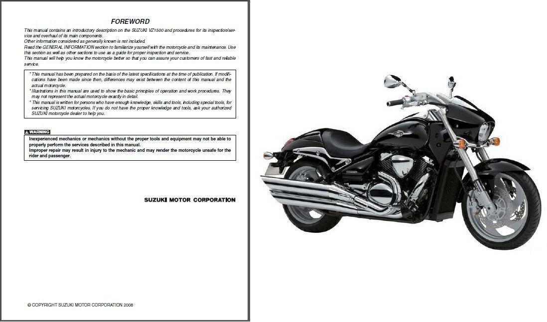 09-14 Suzuki VZ1500 Intruder M1500 / Boulevard M90 Service Repair Manual CD - VZ 1500
