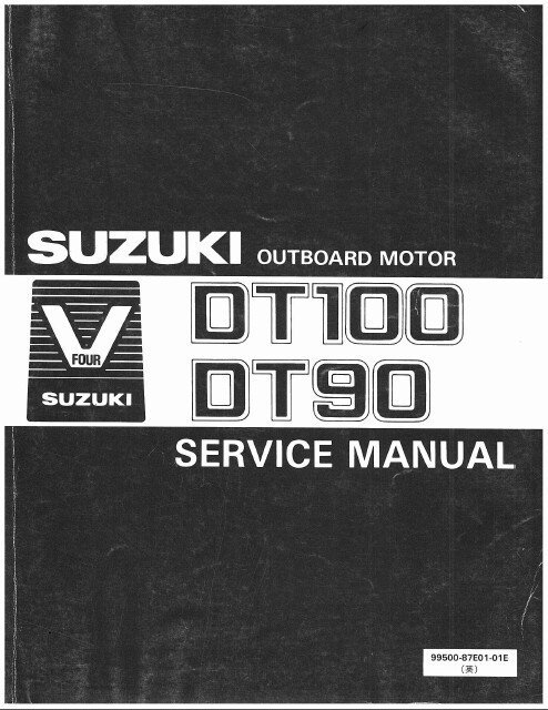 89-00 Suzuki DT90 DT100 2-Stroke Outboard Motor Service Repair Manual CD - DT 90 100