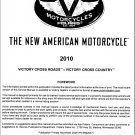 2010 Victory Cross Roads / Cross Country Service Manual on a CD