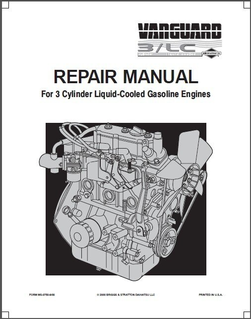 Briggs & Stratton Vanguard 3/LC 3-Cyl Engine Service Repair Manual CD