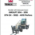 Terex GIROLIFT 3514 3518 3714 SX 5022 4010 Perfora Handlers Service Manual CD