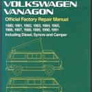 1980-1991 VW Volkswagen Vanagon Diesel, Syncro and Camper Service Manual on a CD