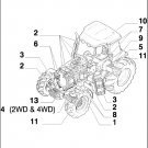 Case IH MXM155 Maxxum Tractor Parts Manual on a CD - MXM 155