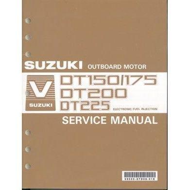 Suzuki DT150 DT175 DT200 DT225 2-Stroke Outboard Motor Service Manual CD