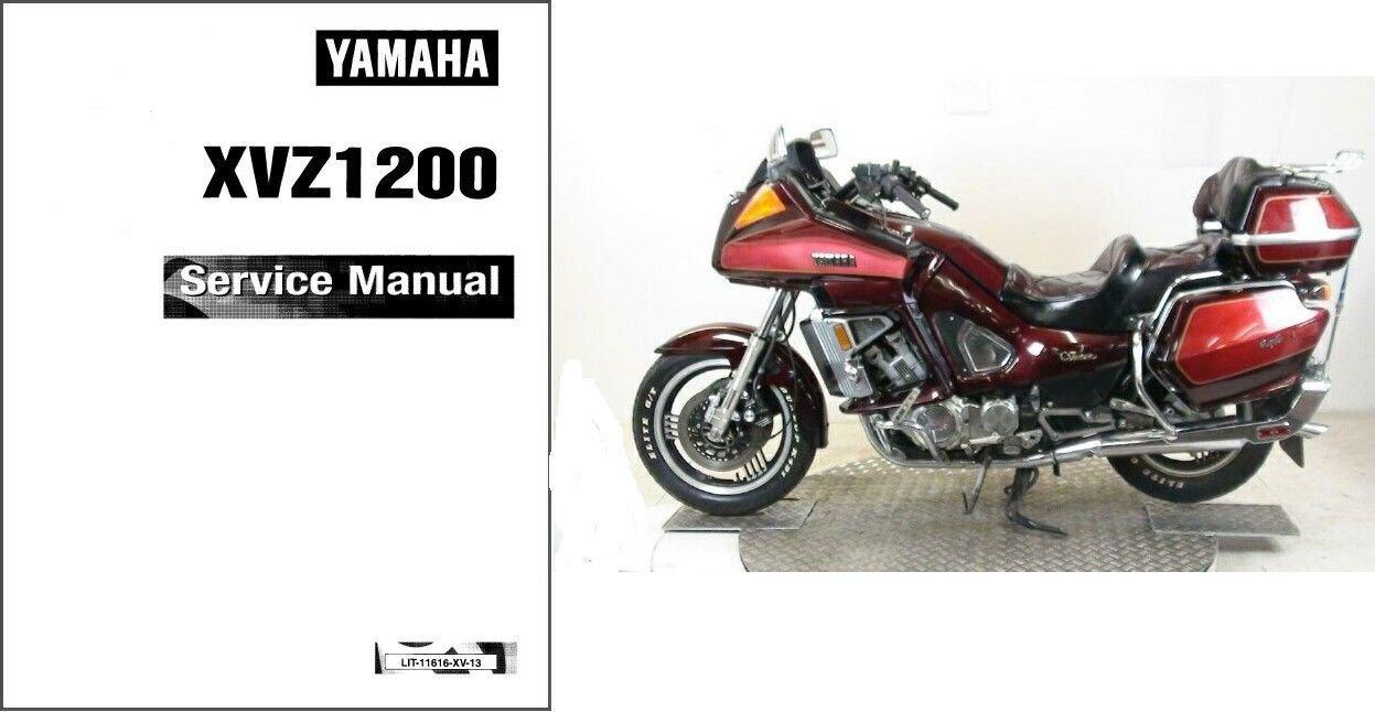 1983-1993 Yamaha XVZ1200 Venture Royale Service Manual on a CD -- XVZ 1200