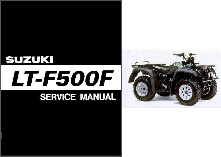 1998-2002 Suzuki LT-F500F QuadRunner 500 Service Repair Manual CD - Quad Runner