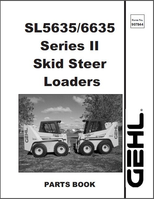 Gehl SL5635 SL6635 Skid Steer Loader Parts Manual on a CD