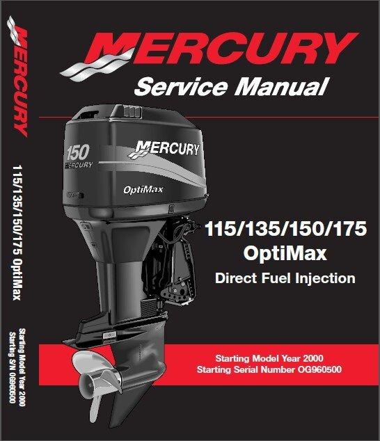 Mercury 115 - 135 - 150 - 175 OptiMax Outboard Motor Service Repair Manual CD