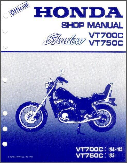 1983-1984-1985 Honda VT700C VT750C Shadow 700 / 750 Service Manual CD