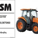 Kubota M6060 M7060 Tractor WSM Service Workshop Manual CD
