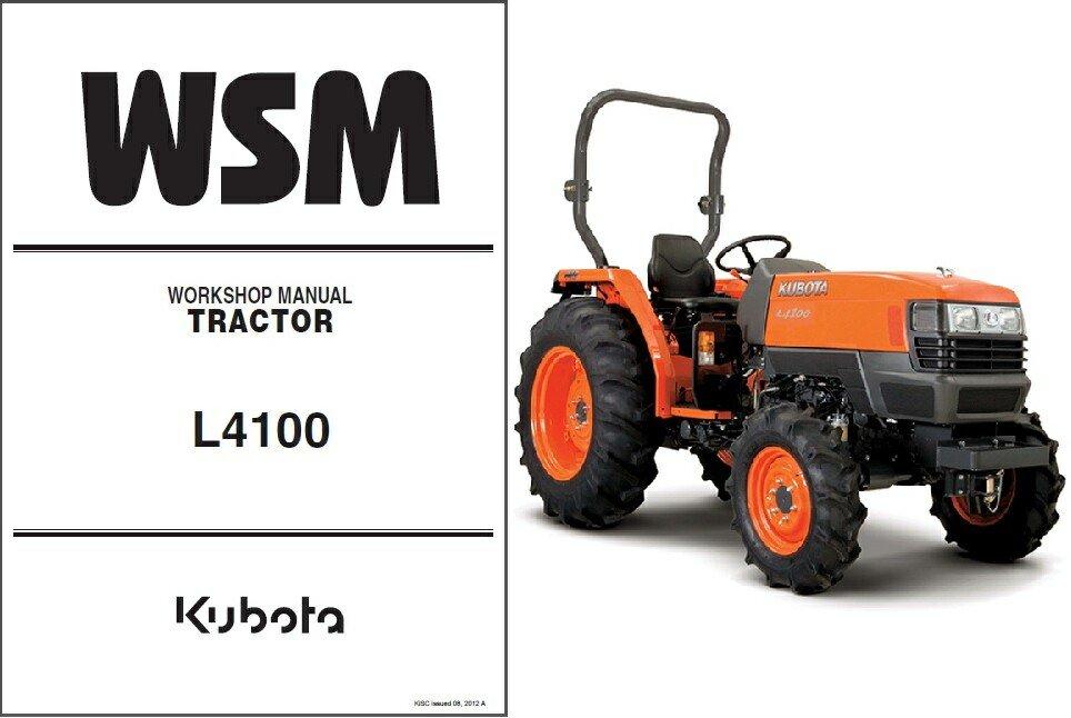 Kubota L4100 / L4100HST Tractor WSM Service Workshop Manual CD -- L 4100 HST