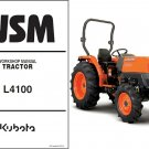 Kubota L4100 / L4100HST Tractor WSM Service Workshop Manual CD -- L 4100 HST