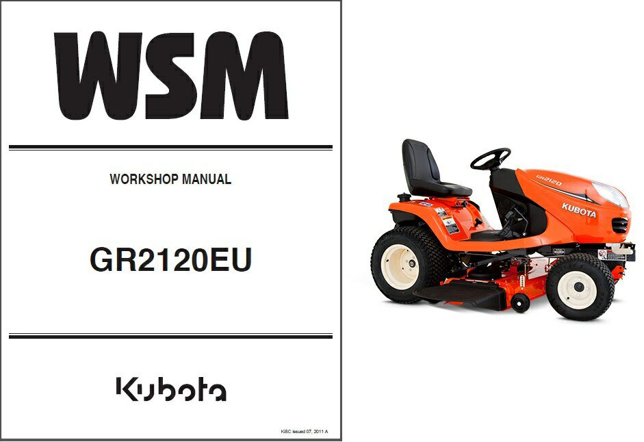 Kubota GR2120 (GR2120EU) Diesel Ride on Mower Tractor WSM Service Workshop Manual CD