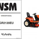 Kubota GR2120 (GR2120EU) Diesel Ride on Mower Tractor WSM Service Workshop Manual CD