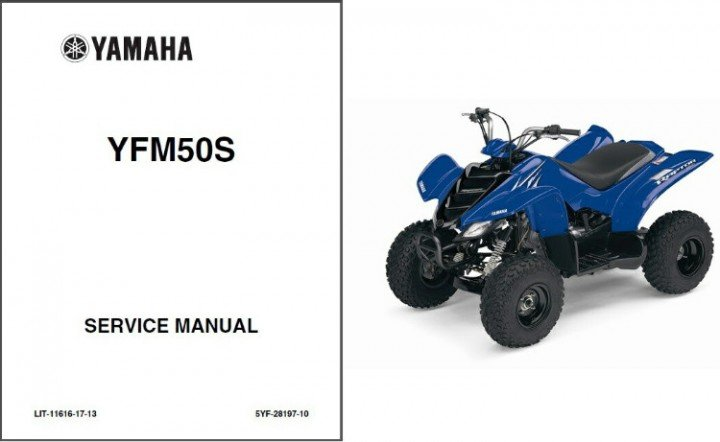 2004-2005-2006-2007-2008 Yamaha YFM50 Raptor 50 Service Manual on a CD