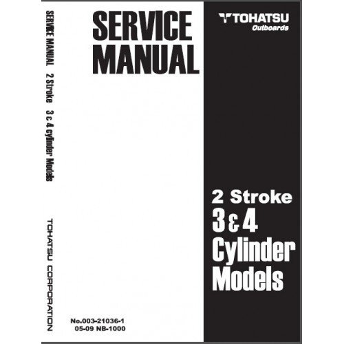 Tohatsu 2-3 Cylinder 2-Stroke 40-140 Hp Outboard Motor Service Repair Manual CD