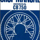 Honda CB750 / CB750F Service Repair Shop Manual on a CD - CB 750 F