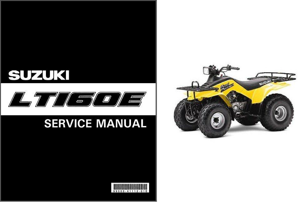 1990-2002 Suzuki LT160E LT-F160 QuadRunner Service Repair Manual CD .. LT-160 Quad Runner