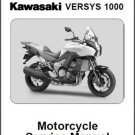 2012-2013-2014 Kawasaki Versys 1000 Service Manual on a CD