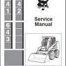 Bobcat 641 642 643 Skid Steer Loader Service Repair Manual CD