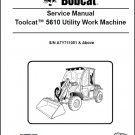 Bobcat Toolcat 5610 Utility Work Machine Service Manual on a CD