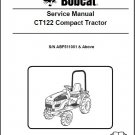 Bobcat CT122 Compact Tractor Service Manual on a CD -- CT 122