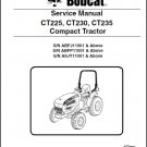 Bobcat CT225 CT230 CT235 Compact Tractor Service Manual on a CD -- CT 225 230 235