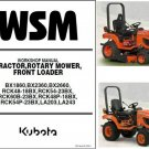 Kubota BX1860 BX2360 BX2660 Compact Tractor / Mower WSM Service Workshop Manual CD