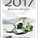 2017 Arctic Cat ZR / XF / M 4000 / 6000 / 8000 Snowmobiles Service Manual CD