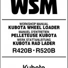 Kubota R420 R520 Wheel Loader (R420B R520B) WSM Service Workshop Manual CD