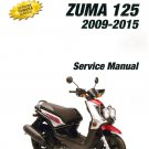 2009-2015 Yamaha Zuma 125 ( YW125 ) Scooter Service Manual on a CD