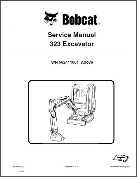 Bobcat 323 Compact Excavator Service Repair Manual on a CD