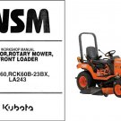 Kubota BX2660 Diesel Ride on Mower / Loader Tractor WSM Service Manual CD