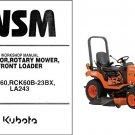 Kubota BX2660 Diesel Ride on Mower / Loader Tractor WSM Service Manual CD
