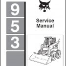 Bobcat 953 Skid Steer Loader Service Manual on a CD