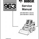 Bobcat 963 Skid Steer Loader Service Manual on a CD