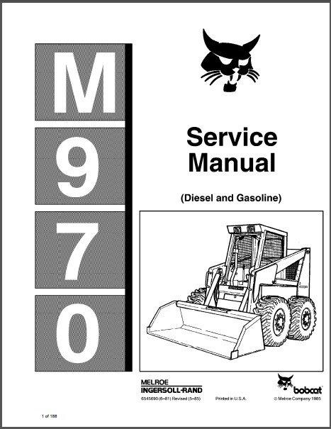 Bobcat M970 ( M 970 ) Skid Steer Loader Service Manual on a CD