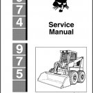Bobcat 974 975 Skid Steer Loader Service Manual on a CD