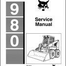 Bobcat 980 Skid Steer Loader Service Manual on a CD