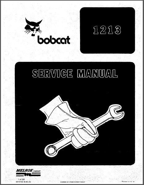 Bobcat 1213 Feller Buncher Service Manual on a CD