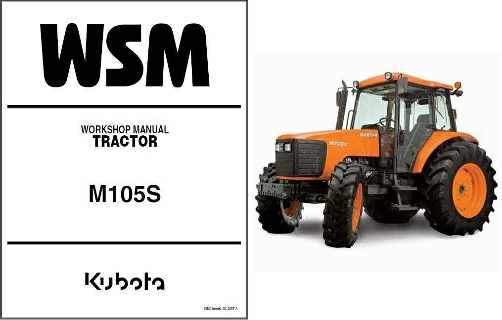 Kubota M105s Tractor Wsm Service Workshop Repair Manual Cd