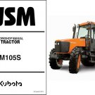 Kubota M105S Tractor WSM Service Workshop Repair Manual CD - -- M 105 S