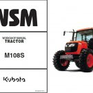 Kubota M108S Tractor WSM Service Workshop Repair Manual CD - -- M 108 S