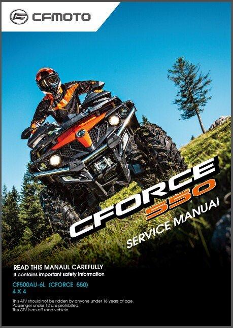 CFMoto CForce 550 ( CF500AU-6L ) 4X4 ATV Service Manual on a CD
