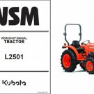 Kubota L2501 Tractor WSM Service Workshop Manual on a CD -- L 2501