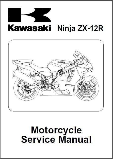 2002-2003-2004-2005-2006 Kawasaki Ninja ZX-12R ( ZX1200 ) Service Manual on a CD