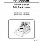 Bobcat T190 Compact Track Loader Service Manual on CD