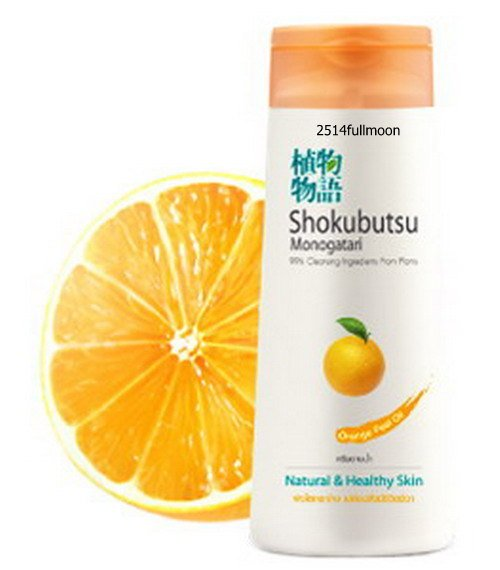 200 ml. Shokubutsu Monogatari Shower Bath Cream Orange Peel Oil